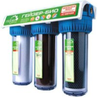 Проточный питьевой фильтр с тремя колбами